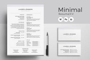 Resume/CV - Minimal