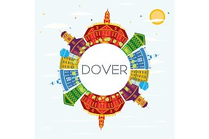 Dover Delaware City Skyline