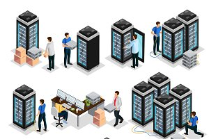 Isometric Data Center Collection