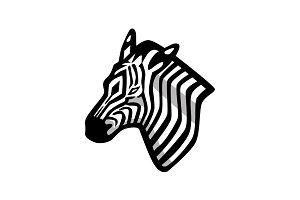 Zebra Head Mascot