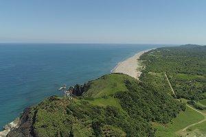 Seascape with beach and sea