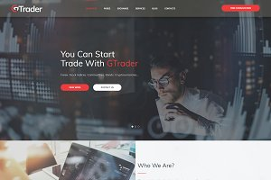 GTrade Forex Trader WordPress Theme