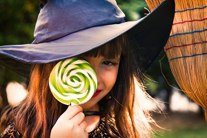portrait of witch. halloween party