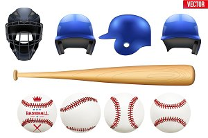 Big set of baseball equipment