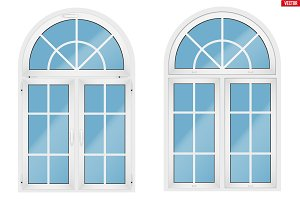 PVC window with arch