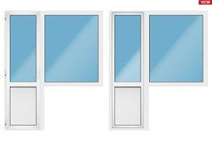 PVC balcony window and door