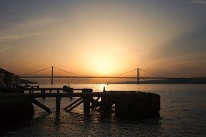 Sunset at Almada Quay
