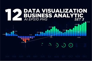 12 Data visualization background