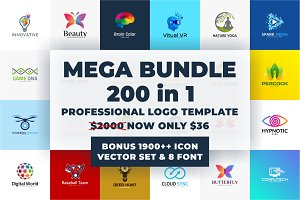 Mega Bundle Logo Template (50% OFF)