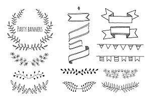Collection of Hand Drawn Garlands