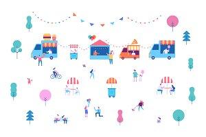Summer Food Festival background