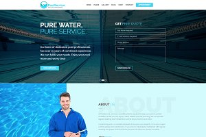 Pool Service WordPress Theme