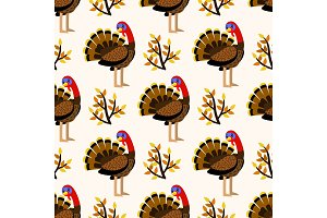 Autumn cute seamless pattern with
