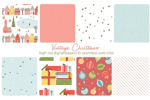 Christmas web tiles & digi papers