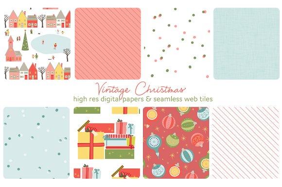 Christmas web tiles & digi papers