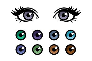 Color contact lenses poster with