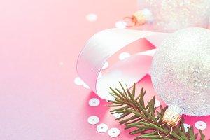 Christmas pearl decoration balls pin