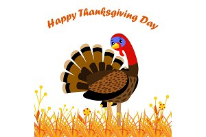 Happy Thanksgiving Day card with