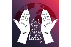 Pray for the World poster with