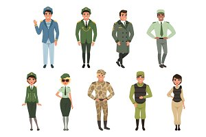 Military uniforms set, Military