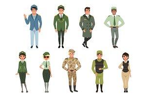 Military uniforms set, Military