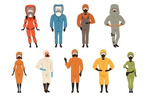 Protective suits set, different