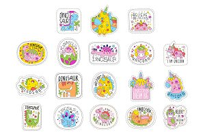 Lovely unicorn patches set, trendy