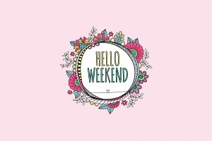 Hello Weekend Clipart