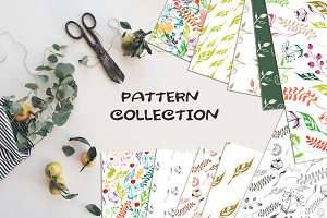 Leaves Handmade Seamless Patterns