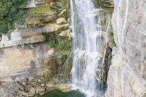 waterfall on the mountain