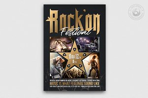 Rock Festival Flyer Template V4