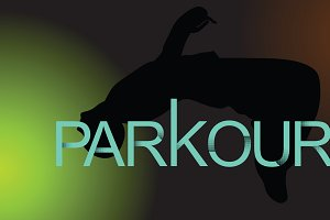 Parkour is a man. Flip back.