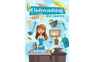 Dish washing and cleaning at home