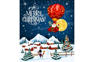 Santa Claus on Christmas balloon
