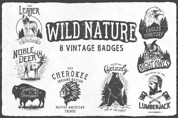 Logo Templates - Wild Nature badges