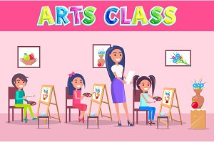 Arts Class School Time Poster with