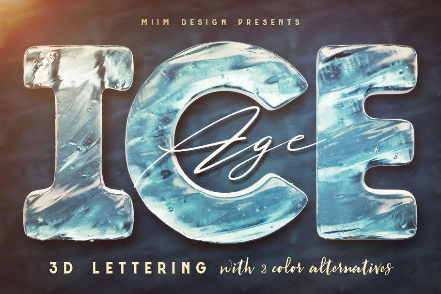 Ice Age - 3D Lettering
