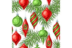 Christmas seamless pattern with
