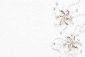 Elegant Christmas pearl background