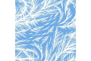 Winter frozen window seamless