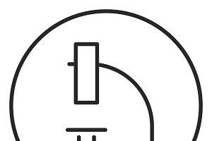 Microscope stroke icon, logo
