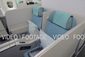 Seats in business class cabin