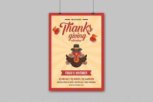 Thanksgiving Party Flyer - V859