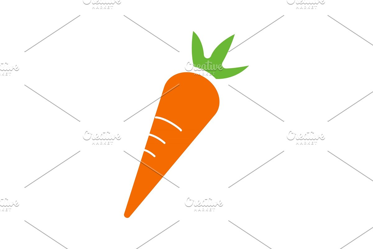 Carrot glyph color icon