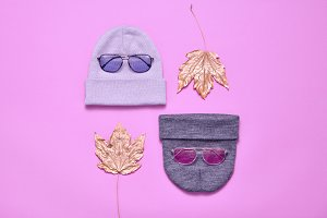 Fall Fashion Minimal Set. Autumn