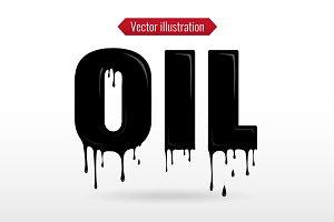 Liquid OIL typography