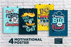 4 Motivational typography poster