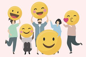 funny & happy emojis illustration
