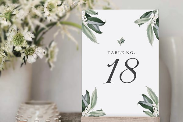 Table Numbers Template For Wedding Creative Wedding Templates