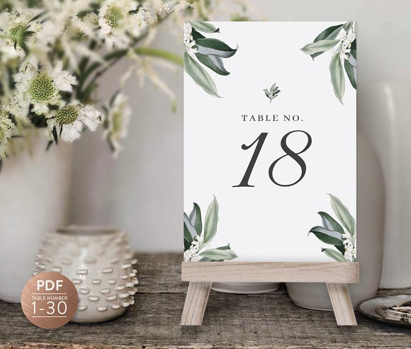 Table Numbers Wedding.Table Numbers Template For Wedding